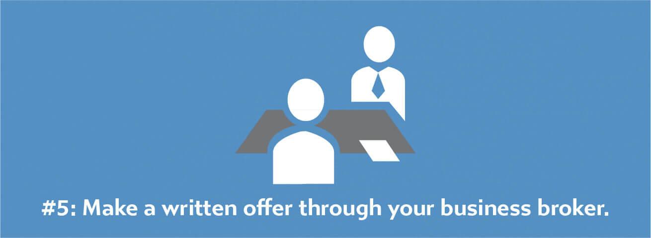 make a written offer