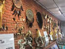 Native American retail store with museum pieces.